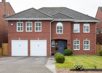 Thumbnail 5 bed detached house for sale in Hunts Field Close, Lymm