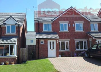 Thumbnail 3 bed semi-detached house to rent in Chestnut Way, Widdrington, Morpeth