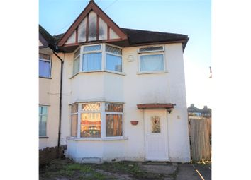 Thumbnail 3 bed semi-detached house for sale in Merlin Crescent, Edgware