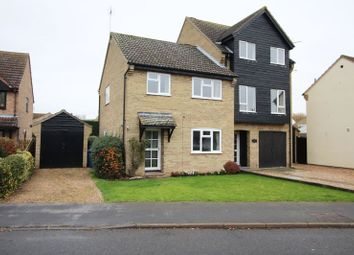 Thumbnail 3 bed semi-detached house to rent in Huntingdon Road, Wyton, Huntingdon