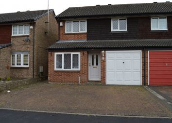 Thumbnail 3 bed semi-detached house to rent in Columbine Way, Harold Wood, Romford