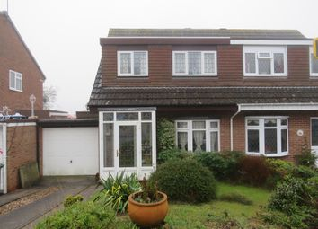 Thumbnail 3 bed semi-detached house for sale in Pebworth Close, Church Hill North, Redditch