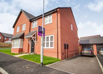 Thumbnail 3 bed semi-detached house for sale in Woolden Way, Anstey, Leicester