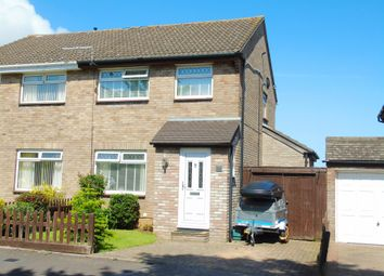 Thumbnail 3 bed semi-detached house for sale in Slade Close, Sully, Penarth