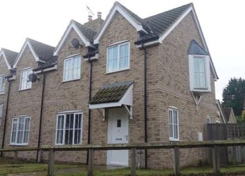 Thumbnail 3 bed end terrace house to rent in Old School Close, Feltwell