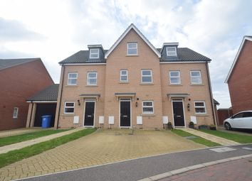 Thumbnail 3 bedroom terraced house to rent in Alice Parkins Close, Hadleigh, Ipswich