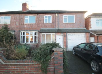 Thumbnail 4 bed semi-detached house for sale in Gainsborough Road, Clarendon Park, Leicester