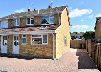 Thumbnail 3 bed semi-detached house for sale in Donnington Close, Camberley, Surrey