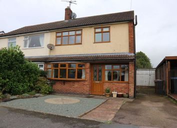 Thumbnail 3 bed semi-detached house for sale in Lord Crewe Close, Newbold Verdon