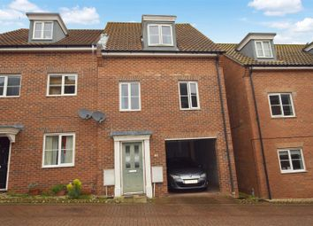 Thumbnail 3 bedroom town house for sale in Attoe Walk, Norwich