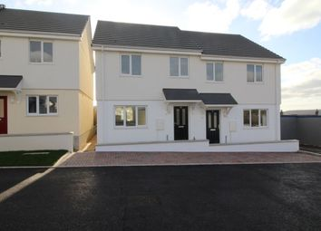 Thumbnail 3 bed semi-detached house for sale in Parc-An-Bre Drive, St. Dennis, St. Austell