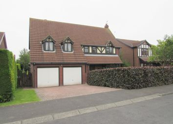Thumbnail 4 bed detached house for sale in Sandford Avenue, Cramlington