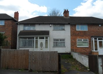 Thumbnail 3 bedroom semi-detached house to rent in Chudleigh Road, Erdington, Birmingham