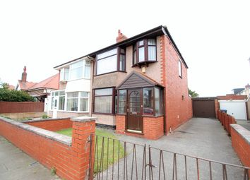 Thumbnail 3 bed semi-detached house for sale in Eastbourne Road, Blackpool