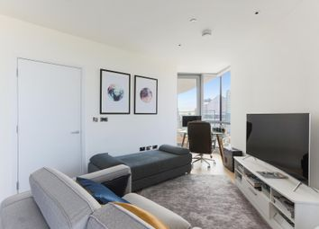 Thumbnail 1 bed flat to rent in Charrington Tower, New Providence Wharf, London