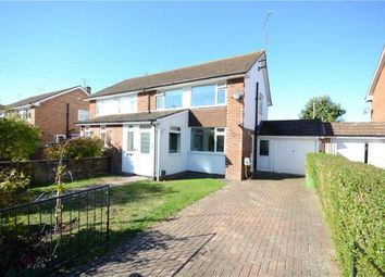 Thumbnail 3 bed semi-detached house for sale in Fairmead Close, College Town, Sandhurst