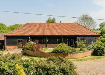 Thumbnail 4 bed barn conversion for sale in The Street, Ashwellthorpe, Norwich