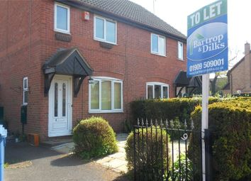 Thumbnail 2 bed semi-detached house to rent in Manor Grove, Worksop, Nottinghamshire