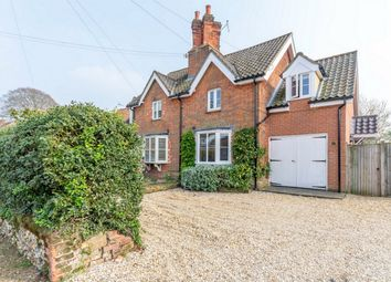 Thumbnail 3 bed semi-detached house for sale in High Street, Tittleshall, King's Lynn