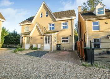 Thumbnail 3 bed semi-detached house for sale in Hodson Close, Soham, Ely