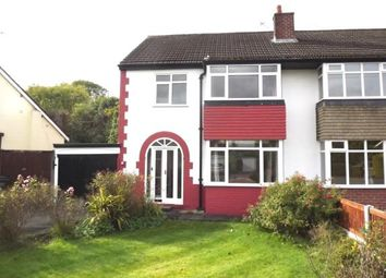 Thumbnail 3 bed semi-detached house for sale in Carrfield Avenue, Davenport, Stockport, Cheshire