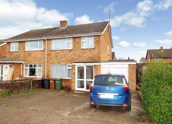 Thumbnail 3 bed semi-detached house for sale in Knights Close, Bozeat, Northamptonshire