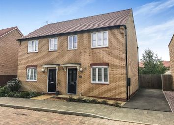 Thumbnail 3 bedroom semi-detached house to rent in Rowell Way, Sawtry, Huntingdon, Cambs