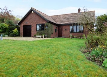 Thumbnail 3 bed detached bungalow for sale in Aslacton Road, Forncett St. Peter, Norwich