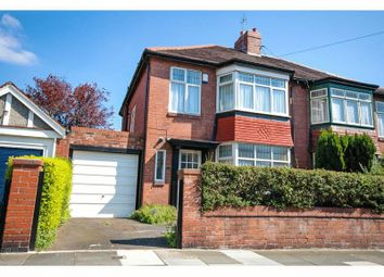 Thumbnail 3 bed semi-detached house for sale in Grosvenor Road, Jesmond, Newcastle Upon Tyne