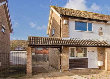 Thumbnail 2 bed semi-detached house for sale in Broxburn Close, Leicester