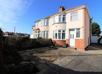 Thumbnail 3 bedroom semi-detached house for sale in Leicester Avenue, Cleveleys
