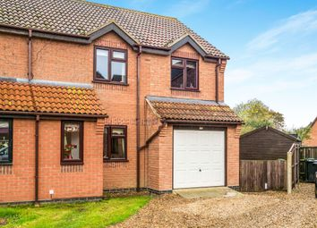 Thumbnail 3 bedroom semi-detached house for sale in Two Fields Way, Bawdeswell, Dereham