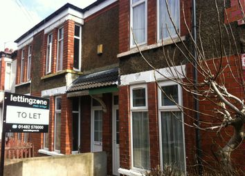 Thumbnail 2 bedroom terraced house to rent in Cornwall Gardens, Raglan Street, Hull