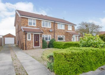 Thumbnail 3 bed semi-detached house for sale in Loxley Close, York
