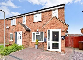 Thumbnail 3 bed semi-detached house for sale in Croydon Close, Lords Wood, Chatham, Kent