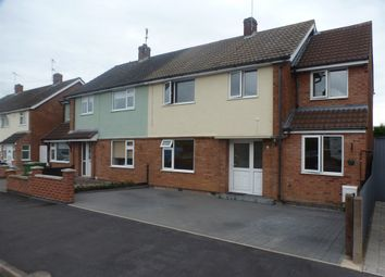 Thumbnail 4 bed semi-detached house for sale in Highfield Drive, Wigston Fields, Leicester