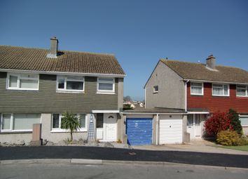 Thumbnail 3 bed semi-detached house to rent in Messack Close, Falmouth, Cornwall
