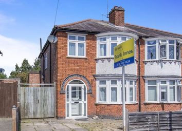 Thumbnail 3 bed semi-detached house for sale in Overdale Road, Knighton, Leicester