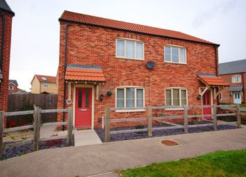 Thumbnail 2 bed semi-detached house for sale in Mendip Avenue, North Hykeham, Lincoln