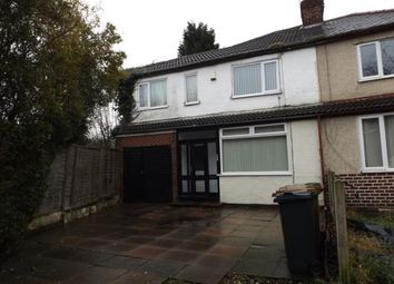 Thumbnail 3 bed semi-detached house for sale in Lucknow Road, Willenhall, West Midlands