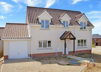 Thumbnail 4 bed detached house for sale in New House, Beccles Road, Thurlton, Norwich