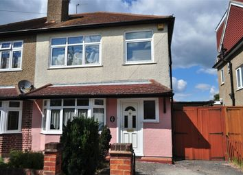 Thumbnail 3 bed semi-detached house for sale in Templedene Avenue, Staines-Upon-Thames, Surrey