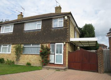 Thumbnail 3 bed semi-detached house for sale in Meadow Close, Copthorne, Crawley