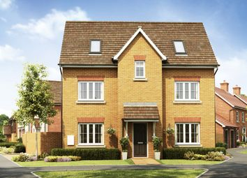 "Thumbnail 4 bed detached house for sale in ""Hexham"" at Broughton Crossing, Broughton, Aylesbury"