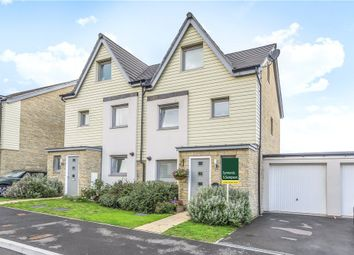 Thumbnail 3 bed semi-detached house for sale in Churchill Rise, Axminster, Devon