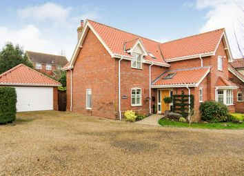 Thumbnail 4 bed detached house for sale in Flordon Road, Newton Flotman, Norwich
