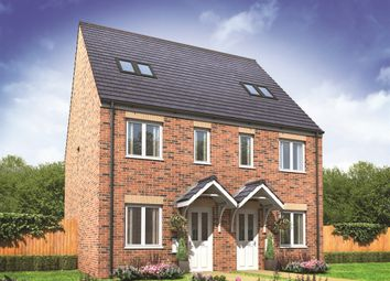 "Thumbnail 3 bed semi-detached house for sale in ""The Bickleigh Ginnel"" at Whitney Drive, Yaxley, Peterborough"