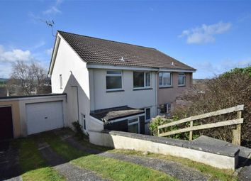 Thumbnail 3 bed semi-detached house to rent in Marshall Avenue, Wadebridge, Cornwall