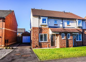 Thumbnail 3 bed semi-detached house for sale in Darrowby Drive, Darlington