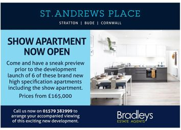 Thumbnail 2 bedroom flat for sale in Hospital Road, Stratton, Bude, Cornwall